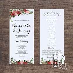 Program Templates Wedding by Printable Wedding Programs Templates Solomei