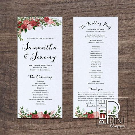program card wedding template best 25 wedding program templates ideas on