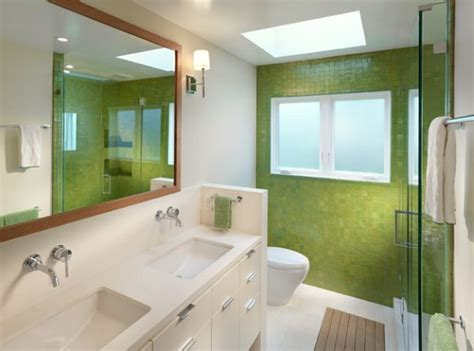 green and white tiles for bathroom decorating with green 52 modern interiors to accentuate