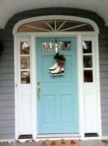 Front Door Paint Colors Sherwin Williams Front Door Color Sherwin Williams Drizzle Turquoise Aqua Front Doors Coastal Style Front