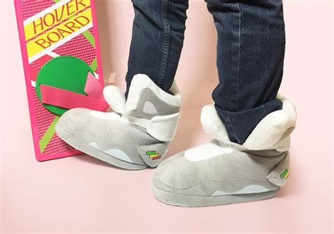 sneaker house slippers get cozy with nike mag replica house slippers sneakernews com