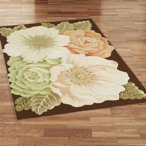 Magnolia Floral Area Rugs Flower Rugs