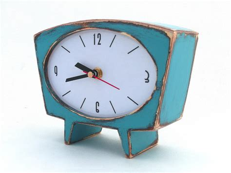 unique desk clocks desk clock turquoise wood table clock unique wooden clock