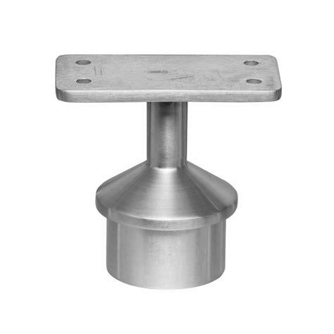 banister post caps post cap flat top rail mount for 2 quot round rail