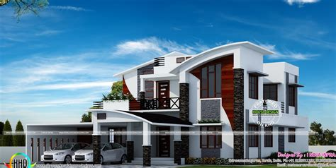 curved roof house designs contemporary model curved roof house kerala home design lovin including stunning