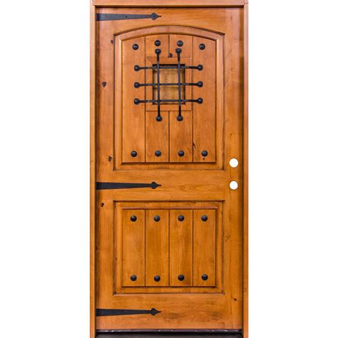 36 X 96 Wood Front Door pacific entries 36 in x 96 in rustic 2 panel stained