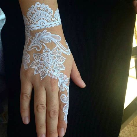 henna tattoo designs white white henna tattoos bored panda