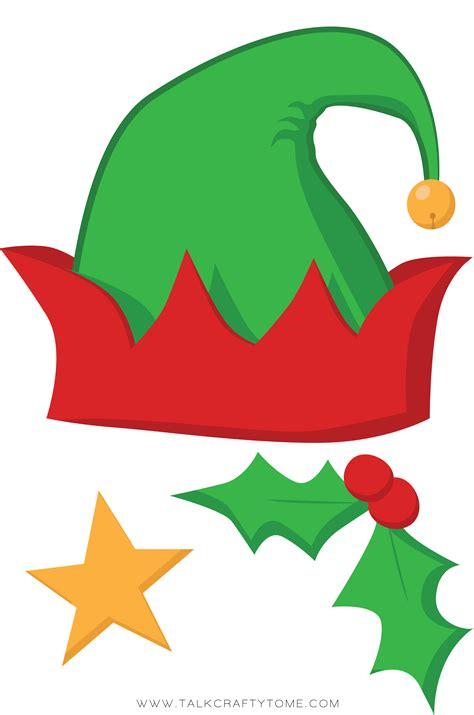 printable elf props christmas photo booth printables free christmas diy