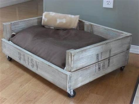 diy wooden dog bed 11 diy pallet dog bed ideas 99 pallets