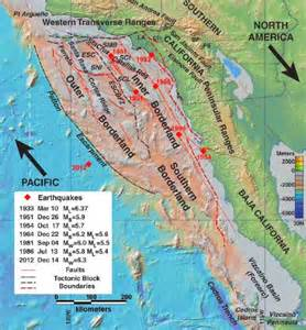 southern california earthquake map researchers map active fault zones southern california