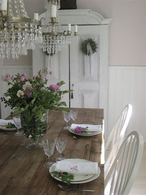 i love this shabby chic feel of this dining area the
