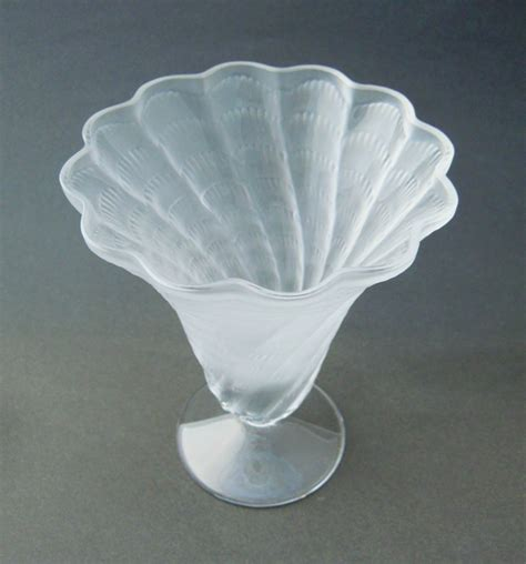 Frosted Glass Vases by Lalique Frosted Glass Trumpet Vase Quot Quot 2