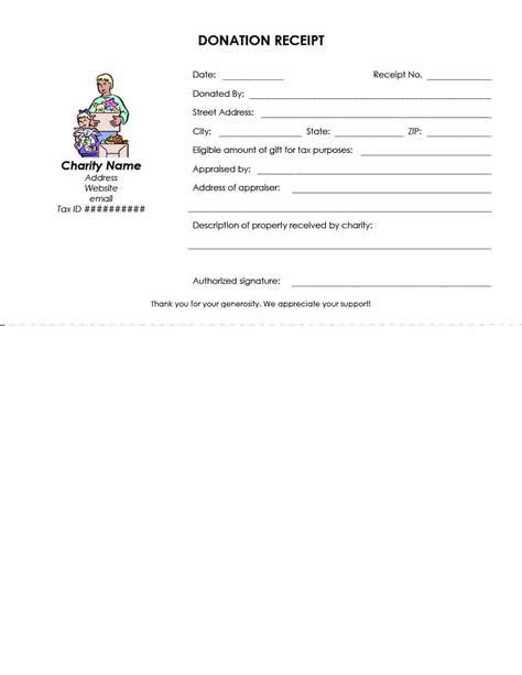 9 tax donation receipt g unitrecors