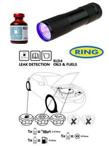 Fuel System Uv Dye Uv Dye Torch Kit Leak Detection Dye For Fuel