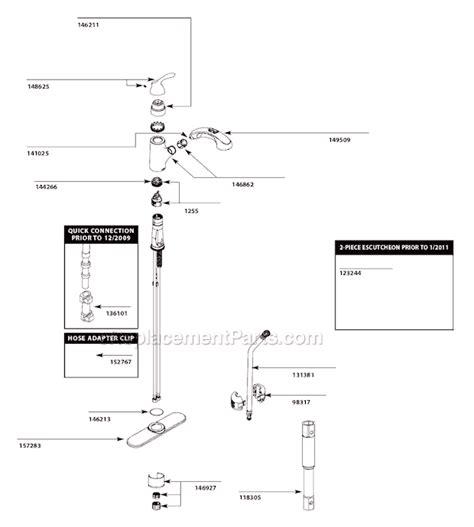 Moen Faucet Parts List by Moen Ca87010 Parts List And Diagram Ereplacementparts