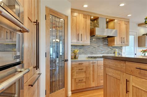 Kitchen Cabinet Doors Images Transitional Red Birch Crystal Cabinets