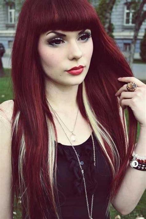 my blonde hair with dark red underneath hair pinterest 25 red hair colors long hairstyles 2016 2017