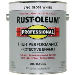 rust oleum professional gloss white 1 gallon based enamel discontinued 182770 the home depot
