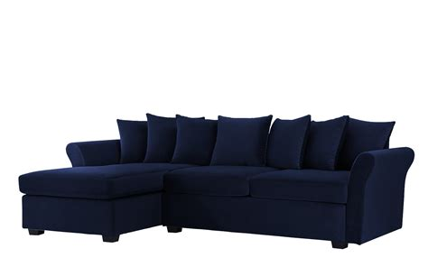 wide chaise sofa arendal modern large velvet sectional sofa w wide chaise