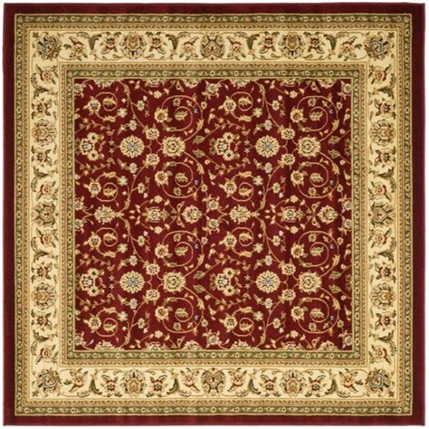 8 x 8 area rugs safavieh lyndhurst ivory 8 ft x 8 ft square area rug lnh312a 8sq the home depot