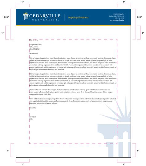 Business Letterhead Guidelines Letterhead Guidelines Creative Services Cedarville