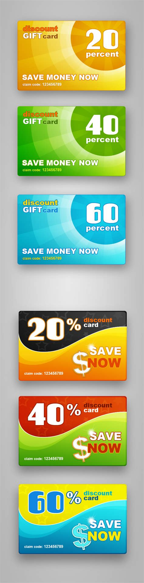 Gift Cards For Discount - free psd discount gift cards free psd files