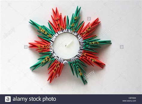 origami kerzenhalter origami teelicht kerzenhalter f 252 r weihnachten isoliert auf