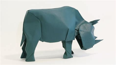 How To Make A Rhino Out Of Paper - how to make an origami rhinoceros