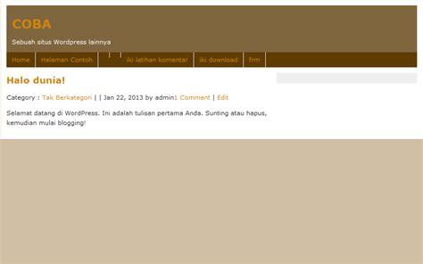 membuat website dari awal latihan membuat tema wordpress dari awal warning