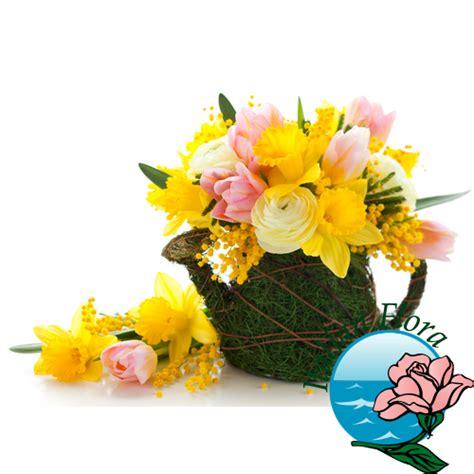foto 8 marzo fiori cestino di fiori di mimosa fiori 8 marzo festa della donna