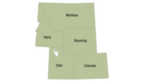 printable map rocky mountain states conservation almanac