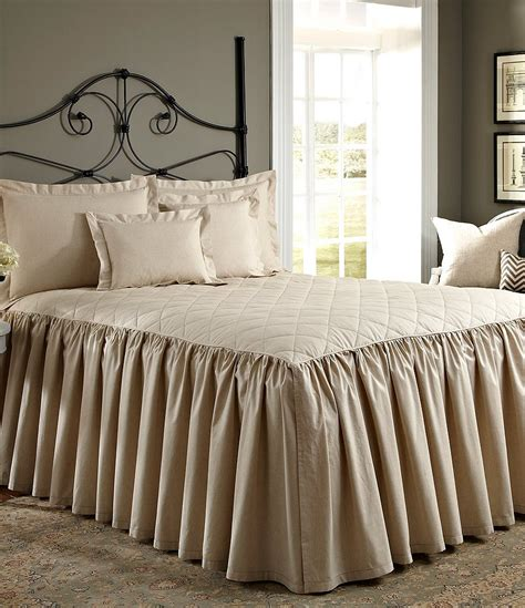 bedspreads and coverlets noble excellence villa quilted ruffled bedspread dillards