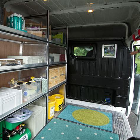scaffali per furgoni fai da te allestimento furgone fai da te con furgone cerizzato