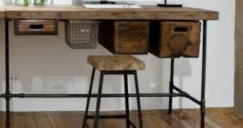 Monterrey Industrial Loft Iron Reclaimed Wood Adjustable Dining Table » Home Design 2017