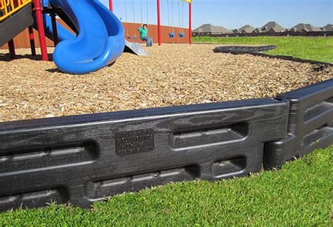 Landscape Timbers For Playgrounds 2 By 2 Plastic Playground Borders Safety Concepts