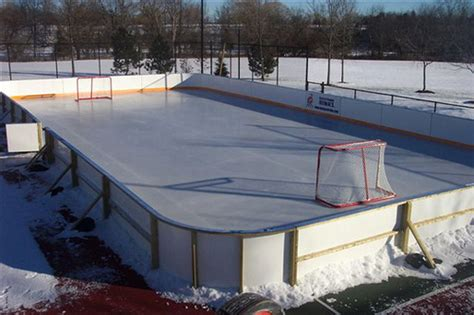 backyard ice rink forum this vinyl material makes great backyard hockey rink liner flickr