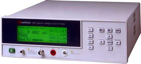 quadtech introduces the model 1855 capacitor leakage current ir meter quadtech