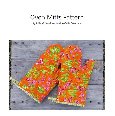 Quilted Oven Mitts by Quilted Oven Mitts Pdf Pattern Maine Quilt Company