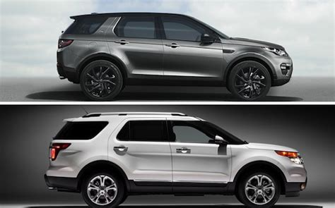 land rover ford land rover discovery sport vs ford explorer the