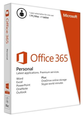 Office Yearly Subscription Microsoft Office 365 Personal Single User 1 Year