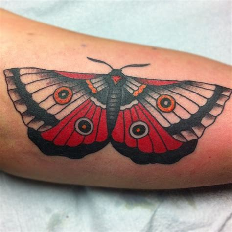traditional moth tattoo traditional moth