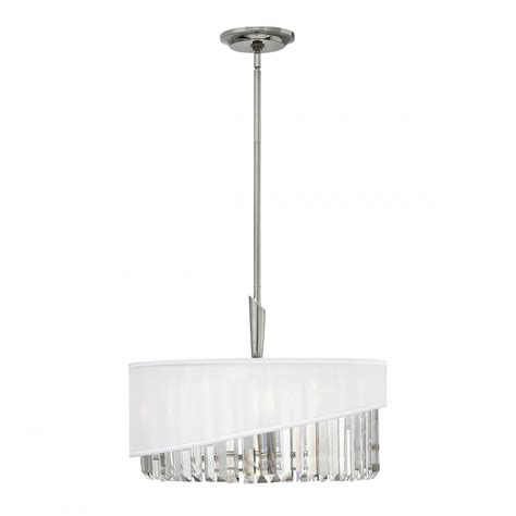 Drum Ceiling Light Drum Pendant Ceiling Light With White Organza Shade And Rods