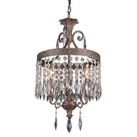 clea 3 light crystal chandelier bel air lighting cabernet collection 3 light patina bronze