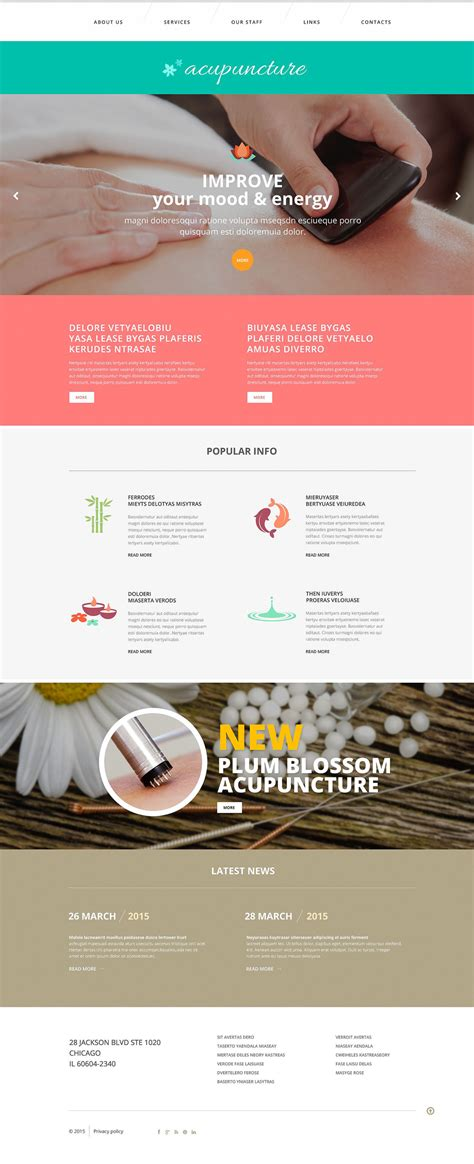 Acupuncture Website Template Free Acupuncture Clinic Website Template 52876