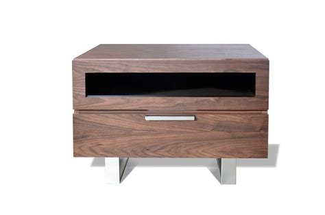 bedroom nightstands modrest dylan modern walnut nightstand nightstands bedroom