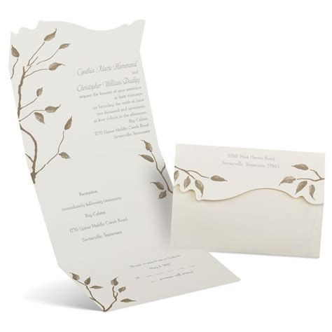 seal and send wedding invitations with photo autumn seal and send invitation s bridal bargains
