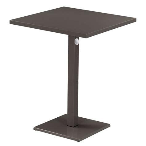 Emu Bistro Table Emu 473kh 32 Quot Lock Square Bar Table Indoor Outdoor Steel Bronze