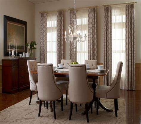 Window Treatment For Dining Room Dining Room Traditional Dining Room San Diego By