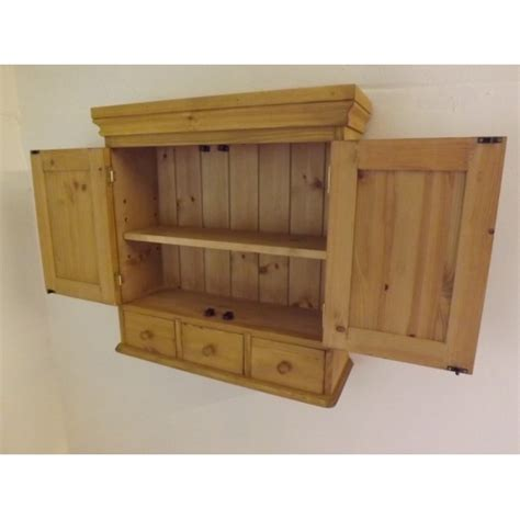 wall spice cabinet with doors pine 2 door wall cabinet with 3 spice drawers 65cm width