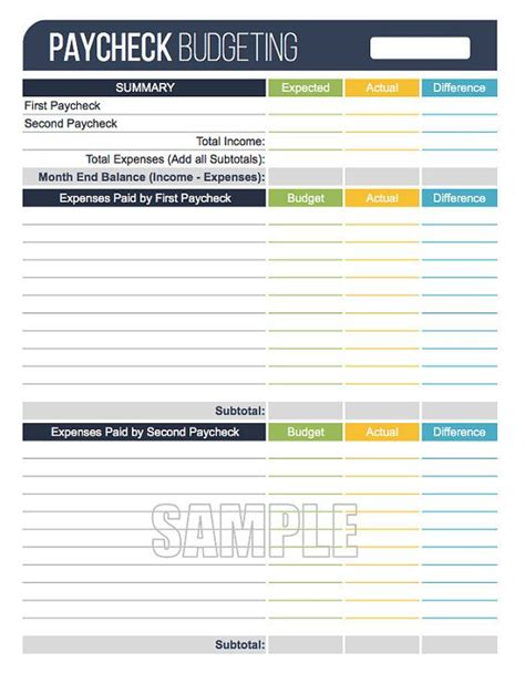 Paycheck Budgeting Worksheet Editable By Freshandorganized Money Pinterest Budgeting Paycheck Planner Template